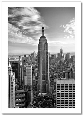 Empire State Building BW NY Christmas Card HPC-2019