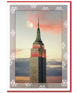 Empire State Building Lights NY Christmas Cards CGC8364