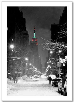 Empire State Building Christmas NY Christmas Card HPC-2306