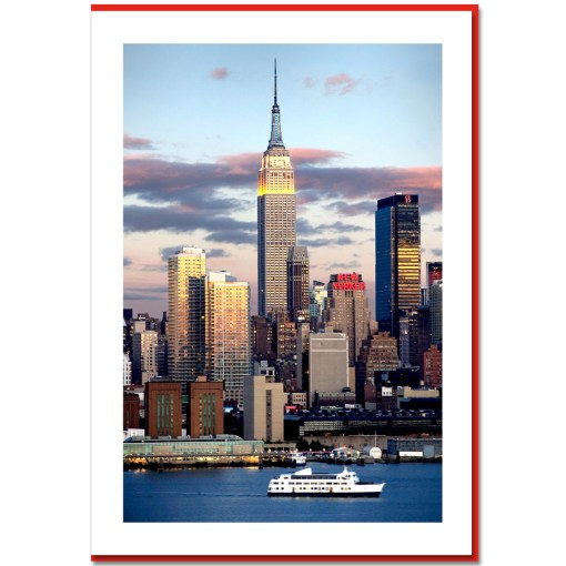 Empire State Building and New Yorker Handmade Photo Card HPC2142