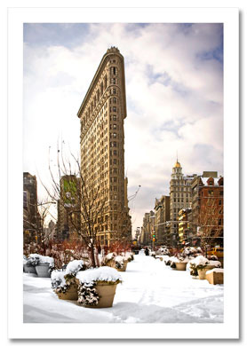 Flatiron Building Winter NY Christmas Card HPC-2311