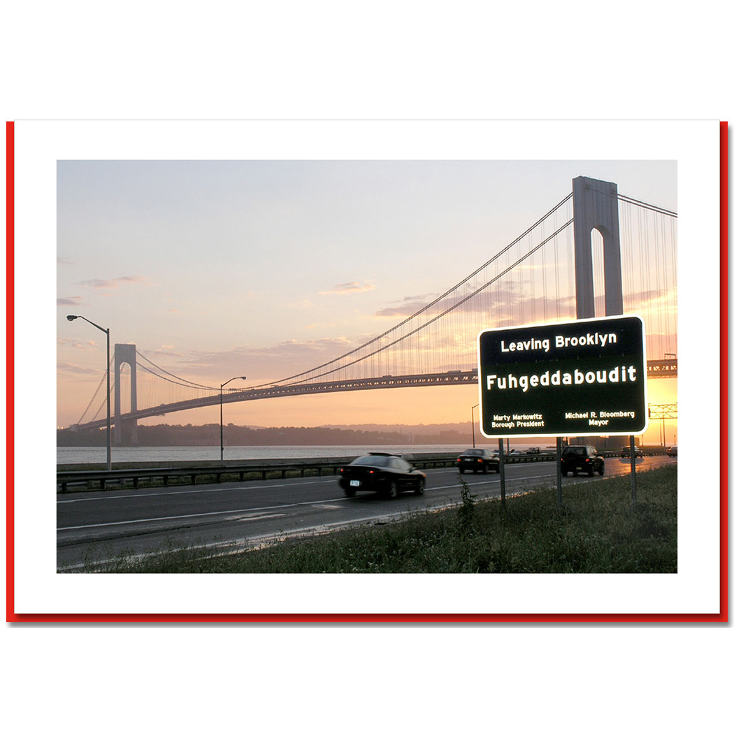 Fuhgeddaboudit Verrazano Bridge New York – NY Christmas Photo Card