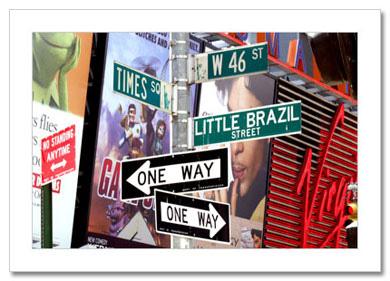 Little Brazil on Times Square NY Christmas Card HPC-2229