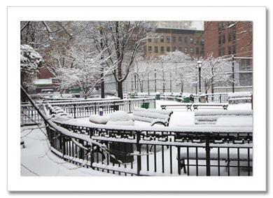 Little Square Midtown Manhattan NY Christmas Card HPC-2563