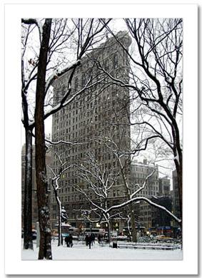 Madison Garden Winter NY Christmas Card HPC2315