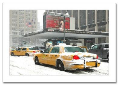 Madison Square Gargen NY Christmas Card HPC-2351