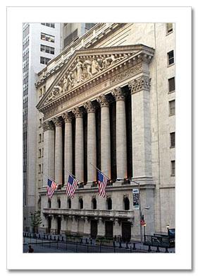 New York Stock Exchange NY Christmas Card HPC-2426