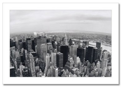 North View From Empire State Building NY Christmas Card HPC-2323