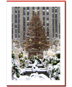 Rockefeller Center Christmas Tree Handmade Photo Card HPC2912