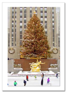 Rockefeller Center Skating Rink NY Christmas Card HPC-2956