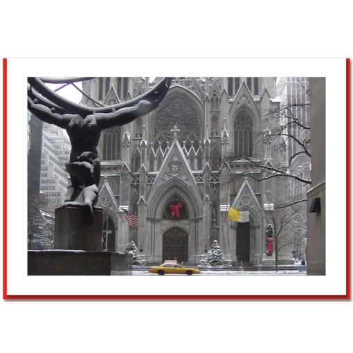St Patriks Cathedral Christmas Handmade Photo Card HPC2440