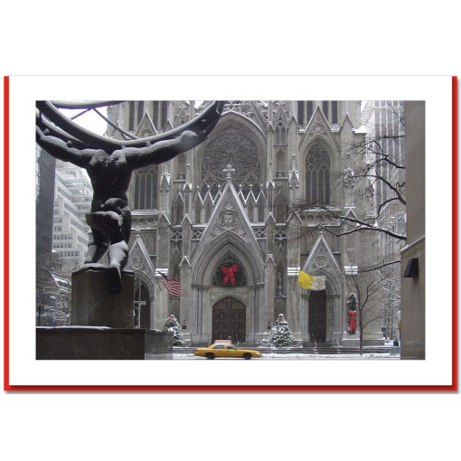 St Patriks Cathedral Christmas Handmade Photo Card HPC2440