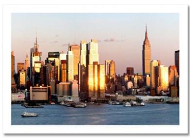 Sunset Midtown Manhattan NY Christmas Card HPC-2135