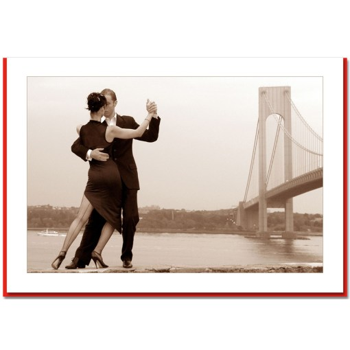 Tango By Verrazano Bridge Handmade Photo Card HPC2721