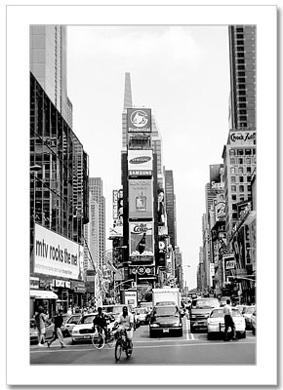 Times Square North BW NY Christmas Card HPC-2205