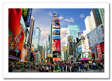 Times Square North NY Christmas Card HPC-2276