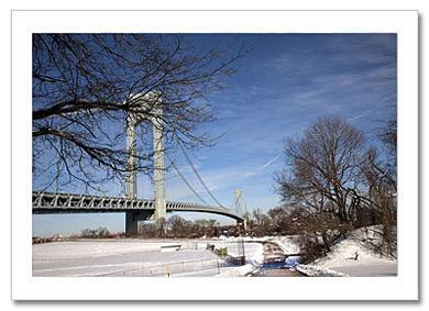 Verrazano Bridge Winter Panorama NY Christmas Card HPC-2728