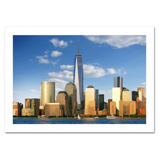 Freedom Tower Downtown Panorama NYC Christmas Cards HPC-2016