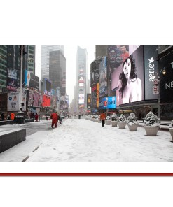 Times Square Winter Panorama Handmade Photo Christmas Card HPC2286