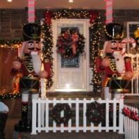 di martino house entrance with Christmas Decor