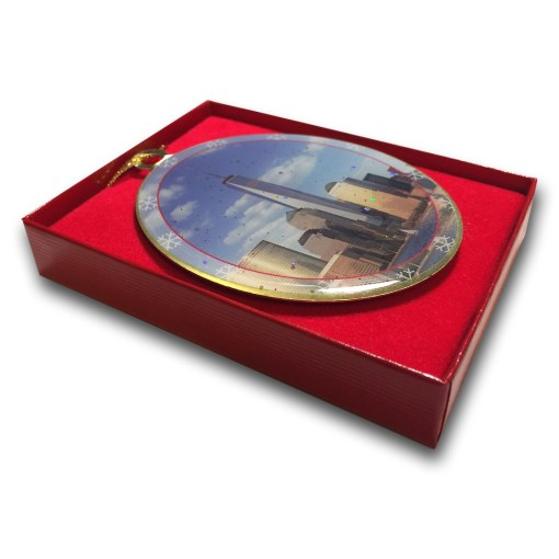 1WTC Freedom Tower Christmas Ornament CO48108 in a box from NY Christmas Gifts