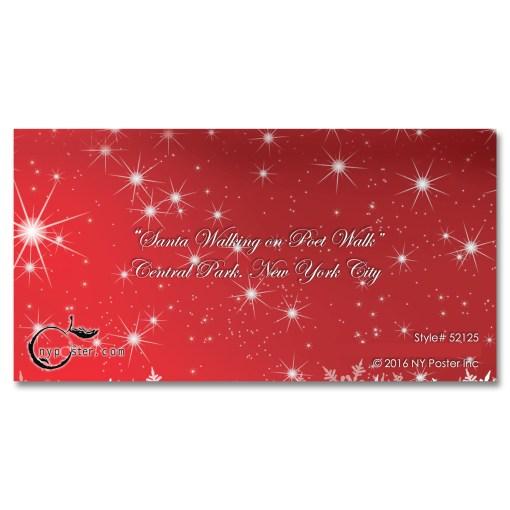 Santa on Poet Walk in Central Park, New York - Money Gift Card Holders Set of 6