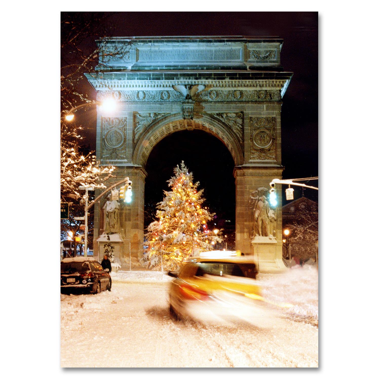 Washington Arch Christmas Tree New York - NYC Christmas Boxed Cards ...