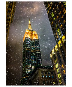 BMC3200 Empire State Building Snow Boxed Cards set of 12 from NY Christmas Gifts