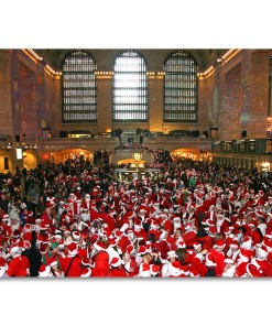 BMC3220 Santacon in Grand Central Boxed Holiday Cards from NY Christmas Gifts