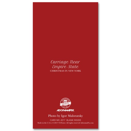 MCH-3217 Carriage to Empire State Building NYC Christmas Money Card Set of 6 from NY Christmas Gifts Store