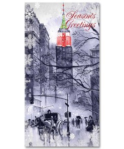 MCH-3217 Carriage to Empire State Building NYC Christmas Money Card Set of 6 from NY Christmas GiftsStore