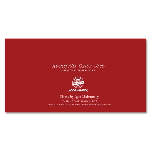 MCH-3912 Rockefeller Center Christmas Tree NYC Christmas Money Cards from NY Christmas Gifts