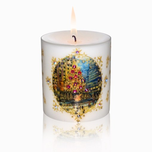 Rockefeller Center Skating Rink Luxury Christmas Candle 3x3 by Sam and Wishbone from NY Christmas Gifts