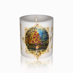 Rockefeller Center Skating Rink Luxury Christmas Candle 3×3 by Sam and Wishbone from NY Christmas Gifts