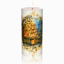 Rockefeller Center Skating Rink Luxury Christmas Candle 3×6 by Sam and Wishbone from NY Christmas Gifts