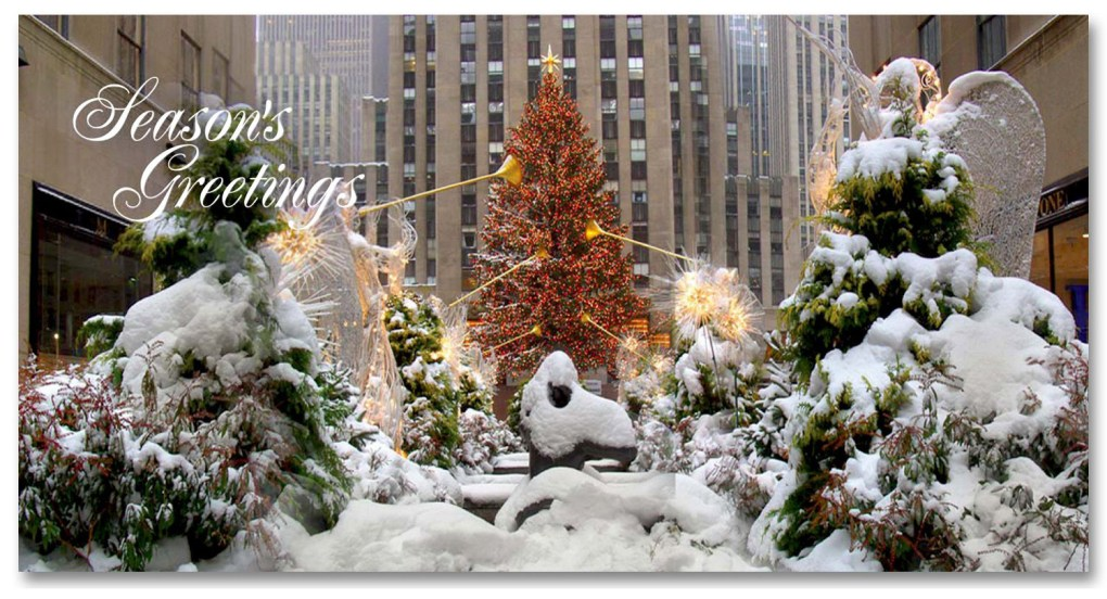 Holidays Money Greeting Cards Holders – Rockefeller Center Christmas Tree – Set of 6 Cards, 6 Envelopes. Holidays in NYC Collection