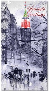 Carriage Empire State Building NYC Christmas Money Card Set of 6