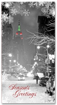 Empire State Building NYC Christmas Money Card Set of 6