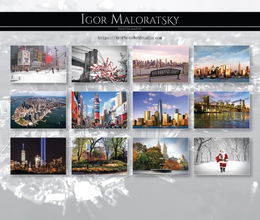 NYC Landmarks Calendar 2020 Cover from NY Christmas Gifts store