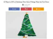 http://www.thekitchn.com/10-ways-to-diy-a-christmas-tree-out-of-things-that-are-not-trees-238361