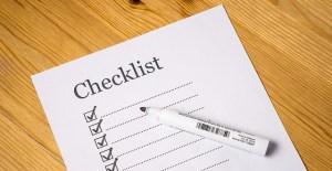 Packing supplies checklist.