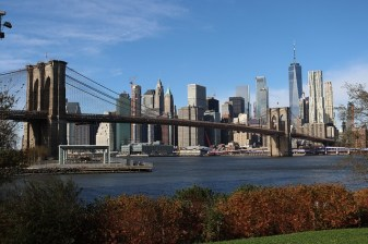 A view of Manhattan - yet another reason why people love Brooklyn.