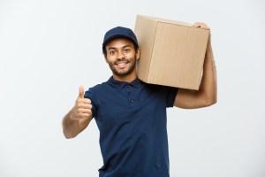 A man holding a cardboard box