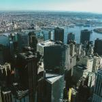 An areal view of NYC