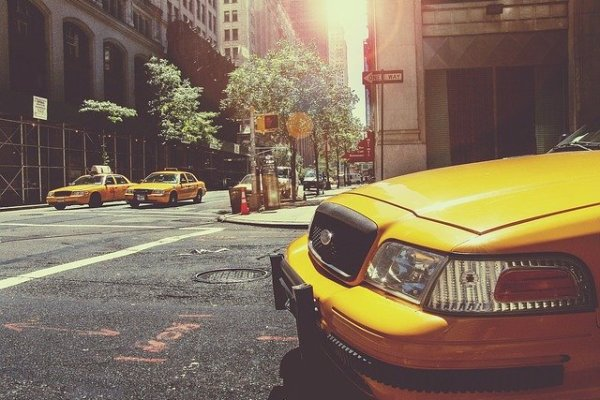 A taxi cab in New York.