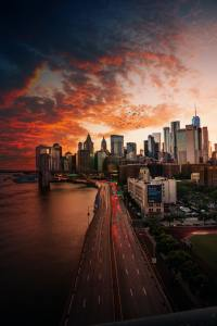 A beautiful view of NYC.