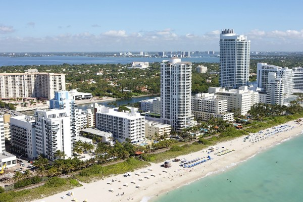 A view of Miami waterfront.
