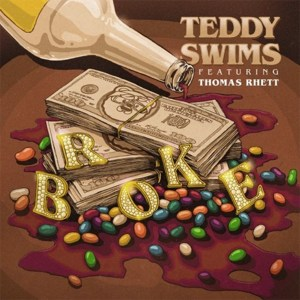 "Thomas Rhett collaborates with Teddy Swims on new song, ""Broke"" available now, October 23rd."