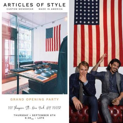 26308a5d7bc Articles of Style Grand Opening Party-Thursday September 6th ...