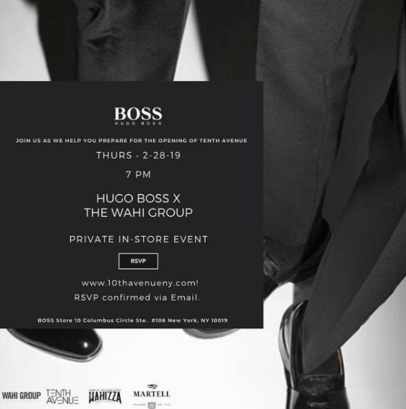 Hugo Boss x Wahi Group In Store Event- Thursday February 28th